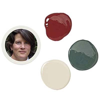 eve ashcraft with three paint drops of porch and floor enamel