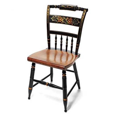 unused 20th-century originalpainted chair from hitchcock