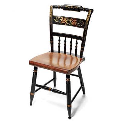 unused 20th-century originalpainted chair from hitchcock
