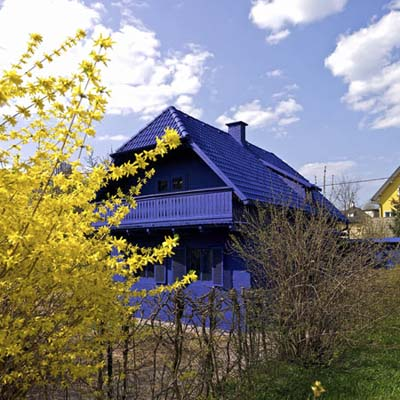 the blue house in austria