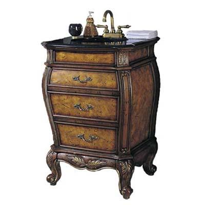 curvy vintage-look vanity sink