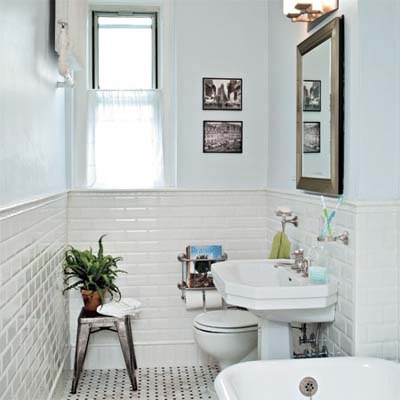 Return to the jazz age bath gets a classic redo 1920s for Bathroom ideas 1920 s
