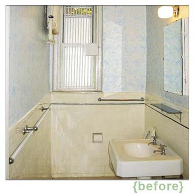 bathroom before it was remodeled in a classic twenties style