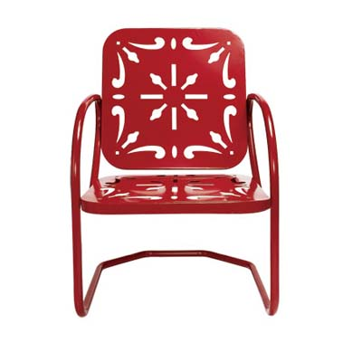 Vintage outdoor red chair