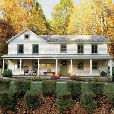 The ideal home on pinterest farm houses wrap around for Remodeling old homes
