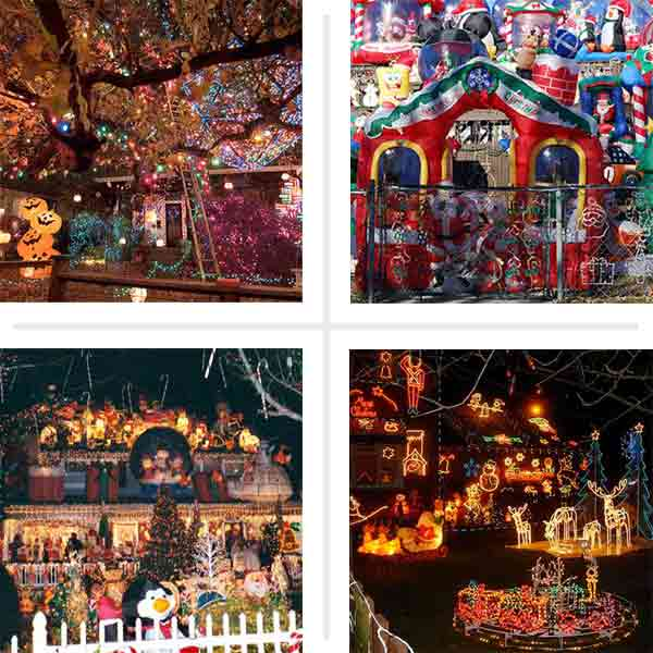 wildest holiday light decorated houses intro