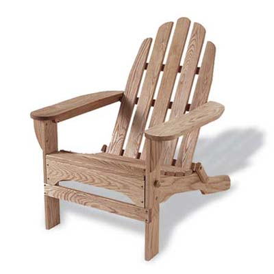 adirondack chair made from oil-finished red oak