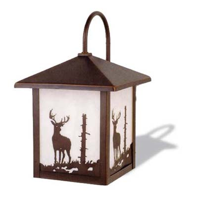 bronze-finished aluminum lantern sconce