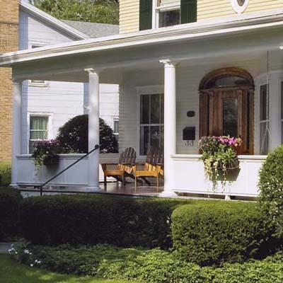 remodel in Seneca Falls, NY with $25 porch planters