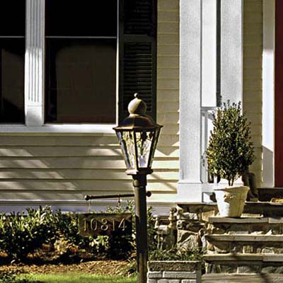 remodel in Kensington, MD with a new head for a lamppost
