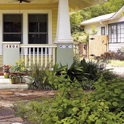remodel in Austin, TX with zoysiagrass and ginger as well as other drought-resistant plants