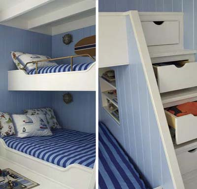built in bunk bed diy
