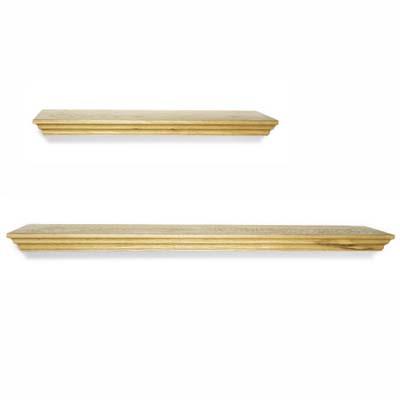 simple plank shelves