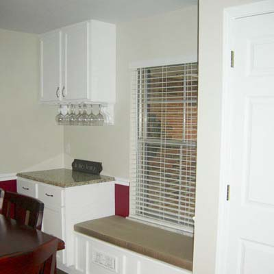 Modernized dining room after