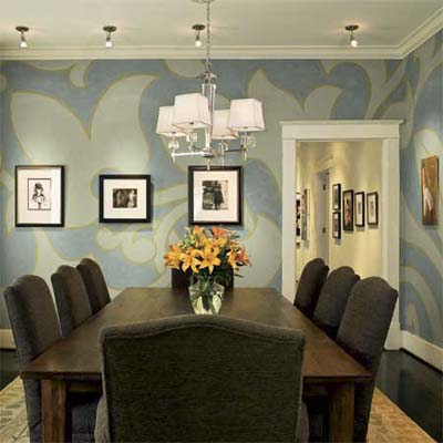 the authors self-remodeled 1920's bungalow dining room in with painted walls