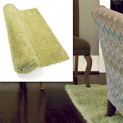 nylon shag rugs inset in photo of this remodeled bungalow living room