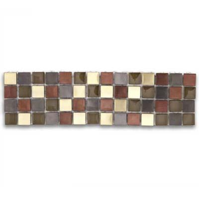 colorful mix of glass and metal tiles from the metal plus blends collection