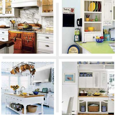 Composite of 4 kitchens