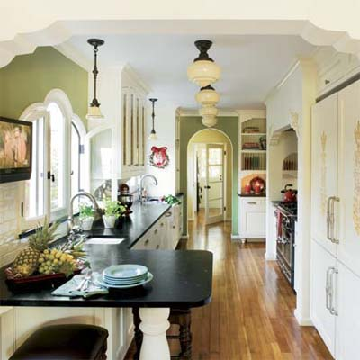 remodeled kitchen in this spanish colonial revival house