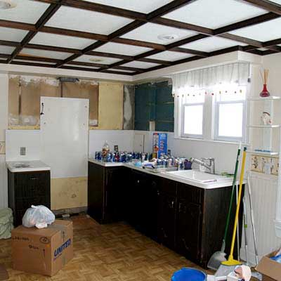 a reader remodeled kitchen before in Grosse Pointe Farms, Mich.