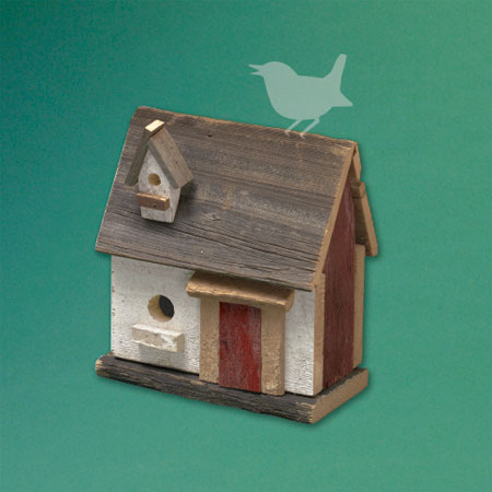 saltbox-style architectural birdhouse