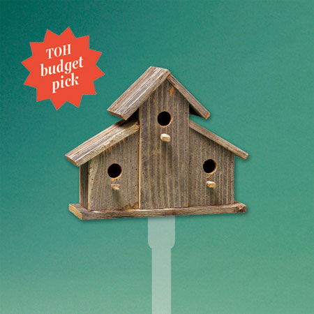budget-conscious roomy ranch-style architectural birdhouse