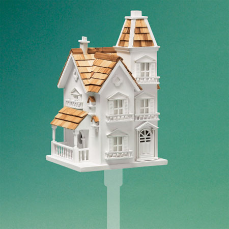 ornamented victorian-style architectural birdhouse