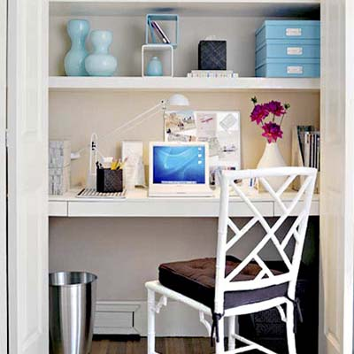 Turn a Closet Into a Home Office | 100 DIY Upgrades for Under $100 ...