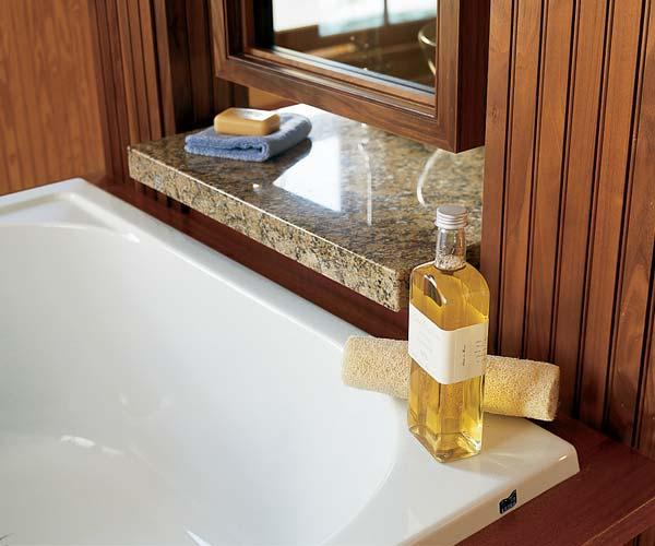 granite countertops in the bath