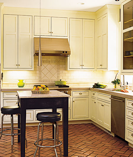 craftsman kitchen terra cotta floor