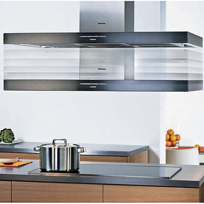 above the cook range hood