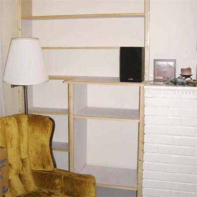built in bookcases during construction