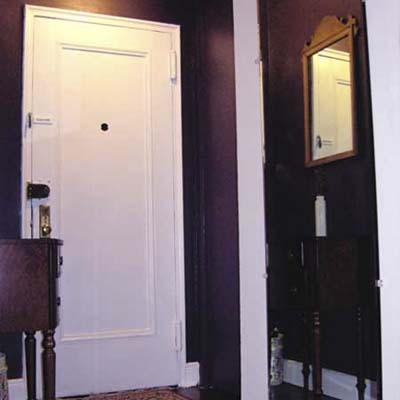 the right choice and application of paint can make your entranceway warm and inviting