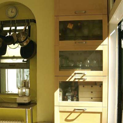 Kitchen cabinets for small spaces afreakatheart for Built in kitchen cabinets
