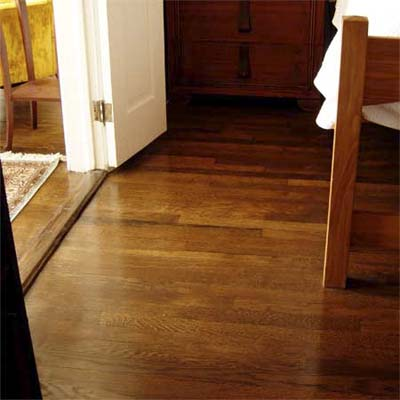 refinished floors add warmth, charm and help tie the rooms together