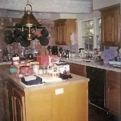 before shot of kitchen remodel