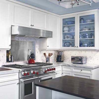 kitchen with a look worth emulating using products within your budget