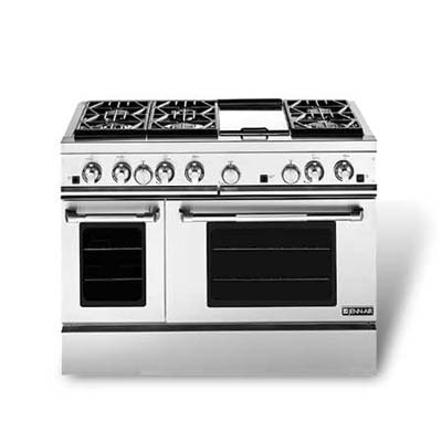 gas-only six-burner range with dual ovens