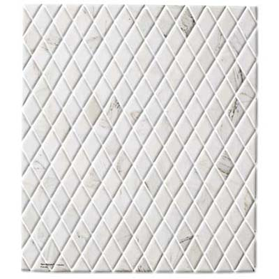 elegent diamond-shaped, hand-cut marble makes an outstanding backsplash