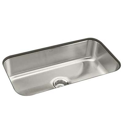 9-inch deep, 18-guage stainless steel sink