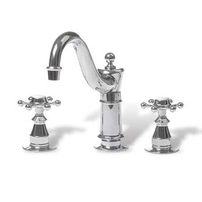 chrome plated brass faucet with ceramic disc handles
