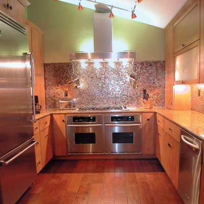 Glittering Galley | 10 Big Ideas for Small Kitchens | This Old House