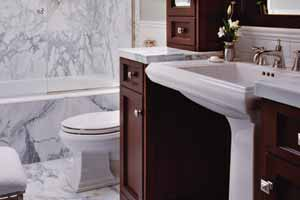 small bathroom wood vanity pedestal sink