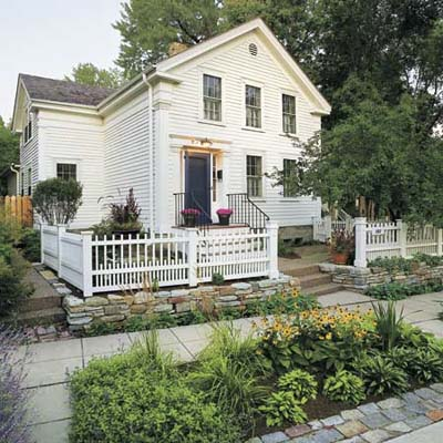 an example of house with an extensive landscaping makeover