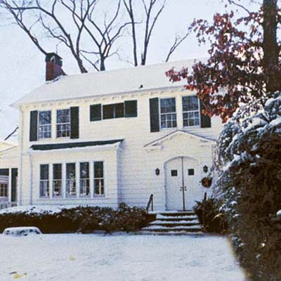 an example of house before the porch addition