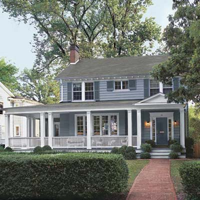 an example of house with a porch addition