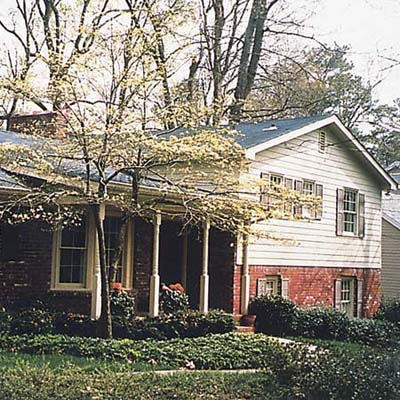 an example of house before the unifying paint job