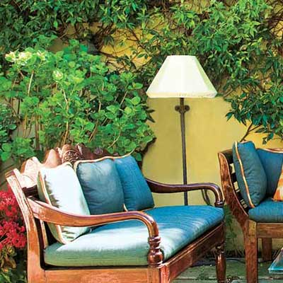 floor lamp in outdoor space