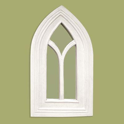 an arched mirror