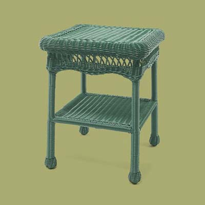 a wicker end table